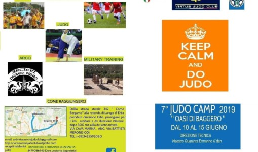 10 al 15 giugno 2019- Judo Camp Oasi di Baggero
